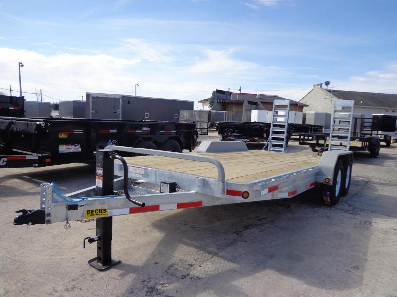 "New Galvanized 83"" x 18' Tilt Deck Trailer For Sale"