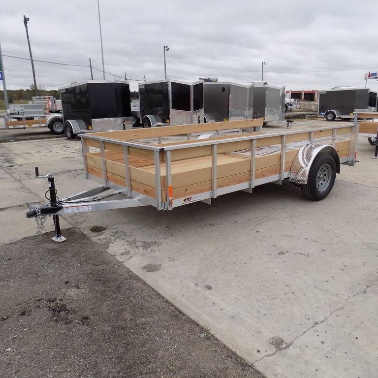 New Legend 6' x 12' 3 Board High Side Aluminum Utility Trailer