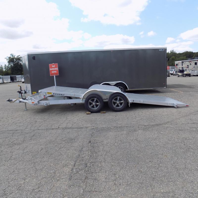 All New Legend 7' x 20' Aluminum Tilt Deck Open Car Hauler - Ramp Free Loading