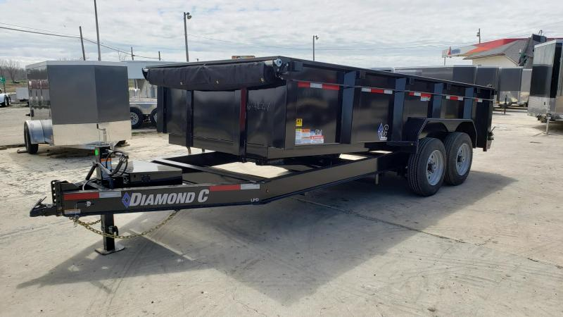 """New Diamond C 82"""" x 16' Low Pro Dump Trailer For Sale"""