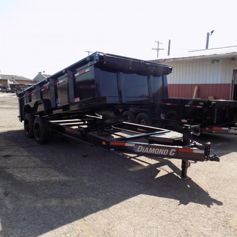 "New Diamond C 82"" x 16' Low Pro Dump Trailer For Sale"