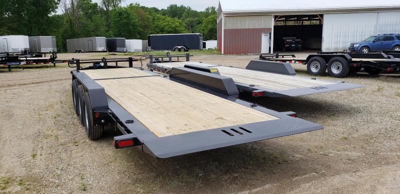 "New Load Trail TH14 83"" x 24' Tilt Deck Trailer - Triple Torsion Axle"