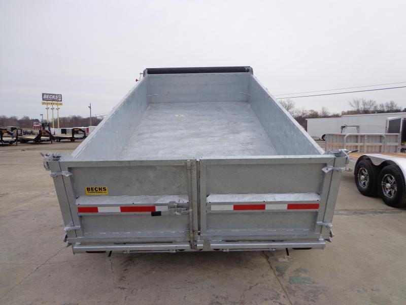 "New Galvanized 83"" x 14' Dump Trailer - Corrosion Resistant"