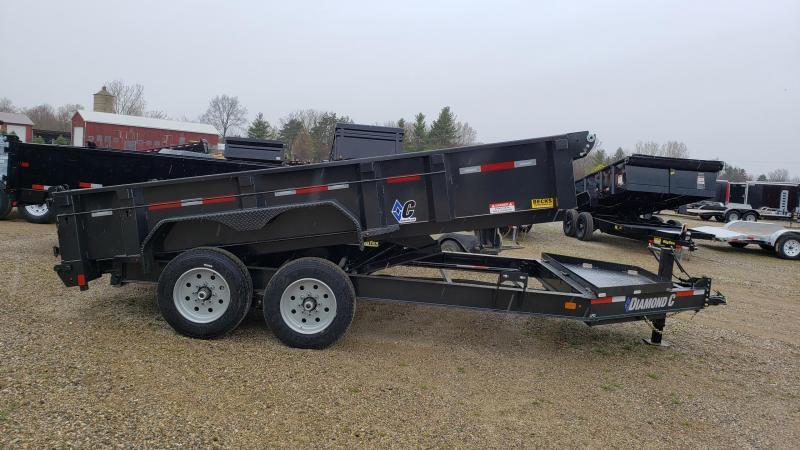 """New Diamond C 82"""" x X14' Low Pro Dump Trailer For Sale"""