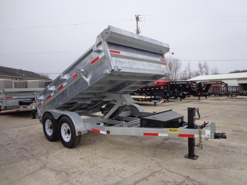 "New Galvanized 83"" x 12' Dump Trailer - Corrosion Resistant"
