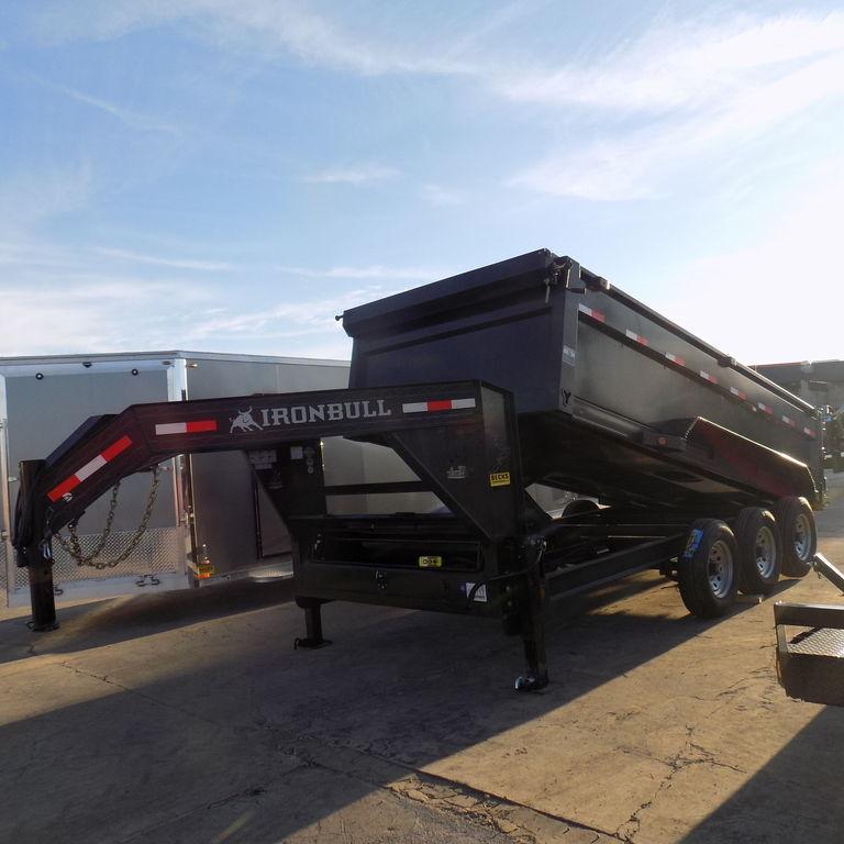 "New Iron Bull 83"" x 16' Gooseneck Dump Trailer"