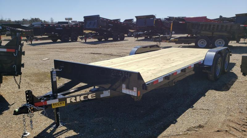 "New Rice Trailers Magnum 82"" x 18'+2' Open Car Hauler - 5200# Axles"