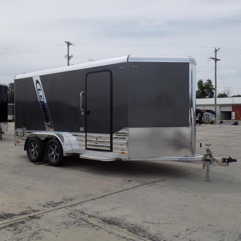 New Legend Deluxe V Nose 7' X 17' Aluminum Enclosed Cargo Trailer For Sale