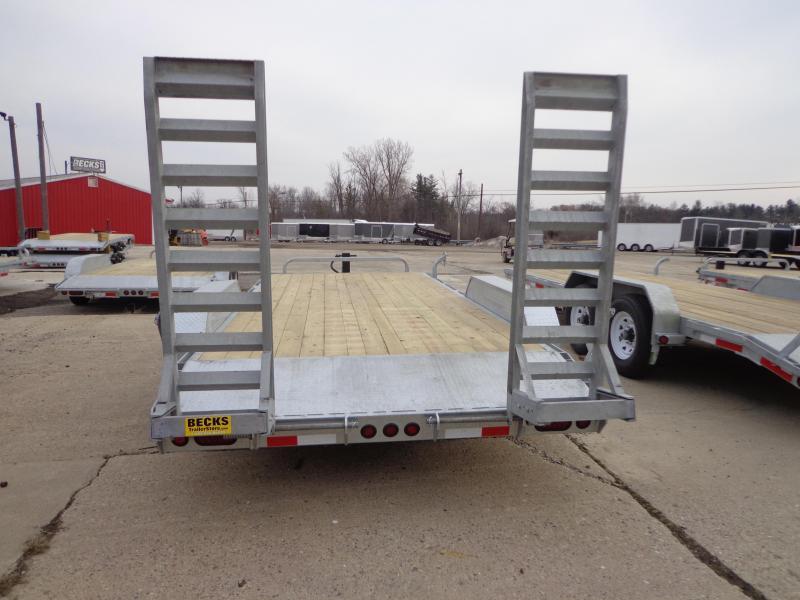 "New Galvanized 83"" x 18' Equipment Trailer - Corrosion Resistant"