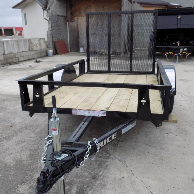 New Rice Trailers Single Utility 5' x 8'