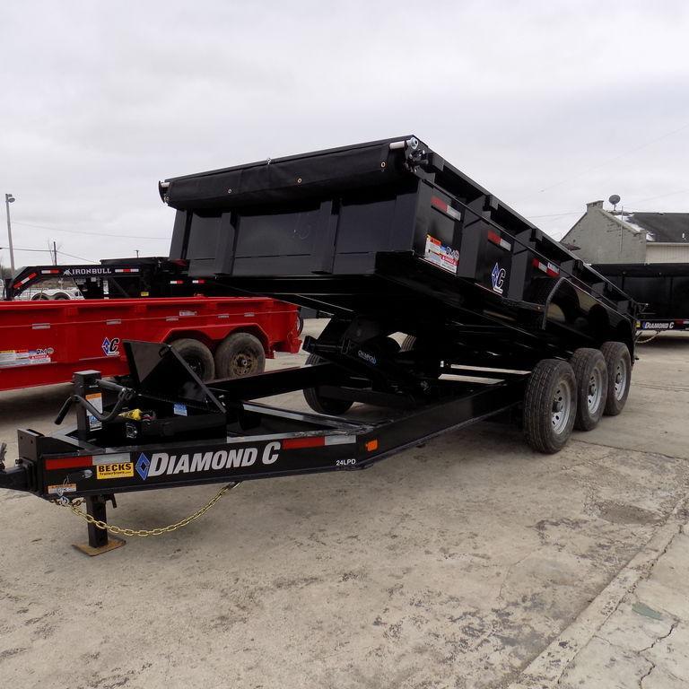 "New Diamond C 82"" x 16' Triple Axle Dump Trailer"