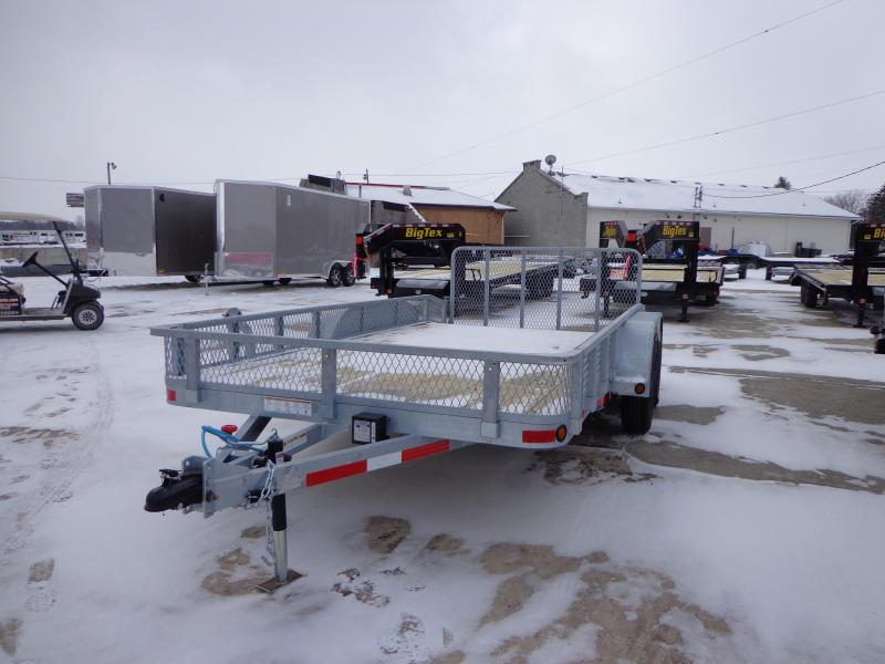 "New Galvanized 83"" x 14' Open Utility Trailer for Sale"