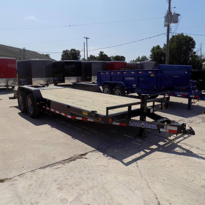 """New Load Trail 83"""" x 20' Car/Equipment Trailer w/ 7K Axles + MAX Ramps"""