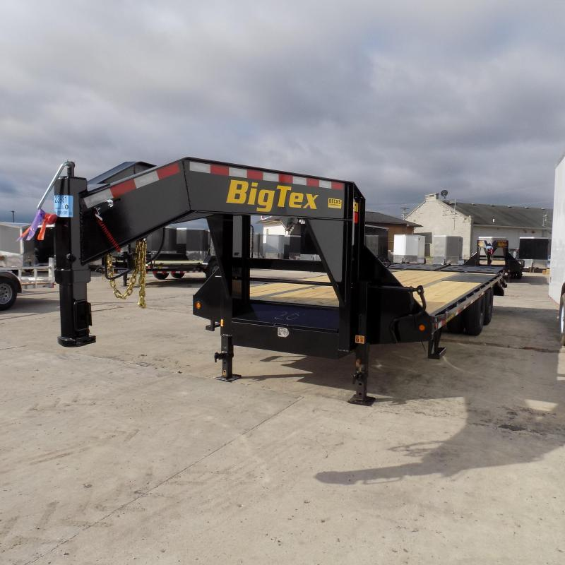 "Big Tex 102"" x 20' + 5' Gooseneck Equipment Trailer With Mega Ramps"