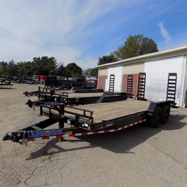 "New Load Trailer CH14 83"" x 20' Open Car Hauler / Equipment Trailer - 14K Weight Rating"