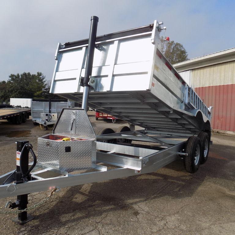 New DuraDump 7' X 14' Galvanized Dump Trailer- Payments $182/mo.