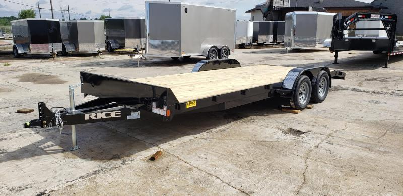 """New Rice Trailers 82"""" x 20' Open Car Hauler For Sale"""