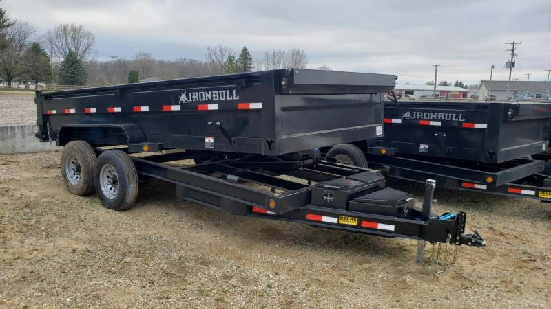 "New Iron Bull 83"" x 16' Dump Trailer with 8K Axles Upgrade"