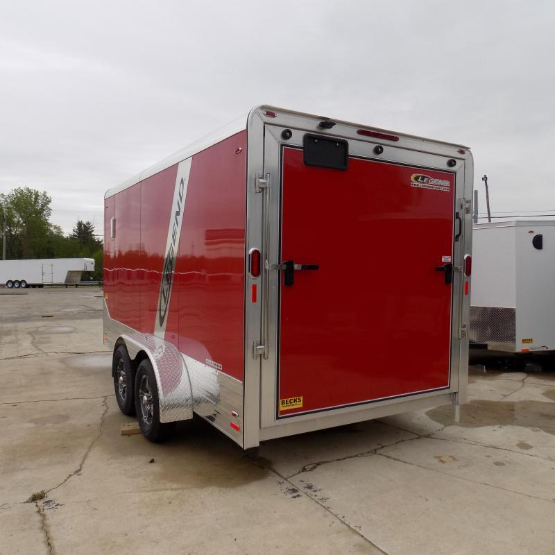 New Legend Trailers Deluxe V Nose 7' X 17' All Aluminum Enclosed Cargo Trailer For Sale