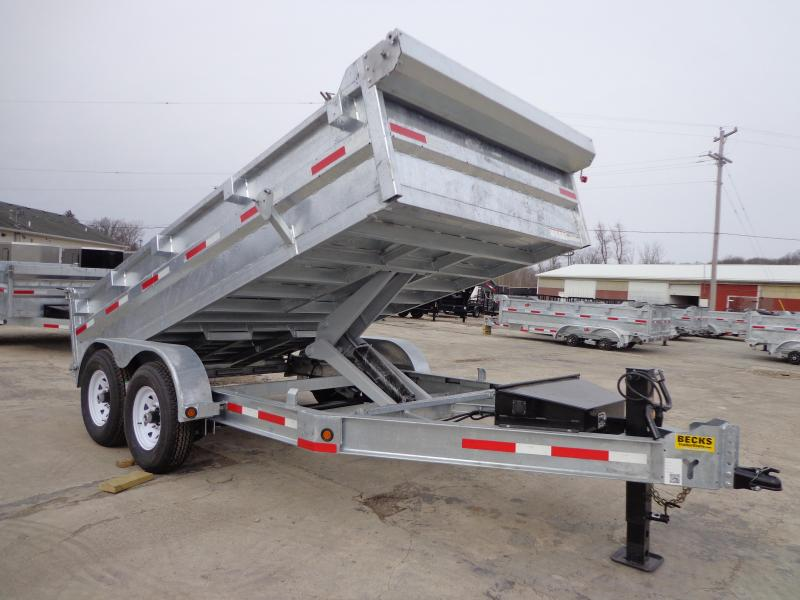 "New Galvanized 83"" x 14' Dump Trailer - Corrosion Resistant in Ashburn, VA"