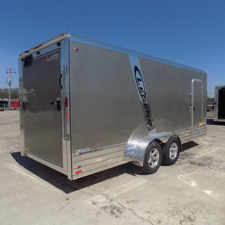 New Legend Deluxe V-Nose 7' x 21' Aluminum Enclosed Cargo Trailer - Several Similar Units On Sale