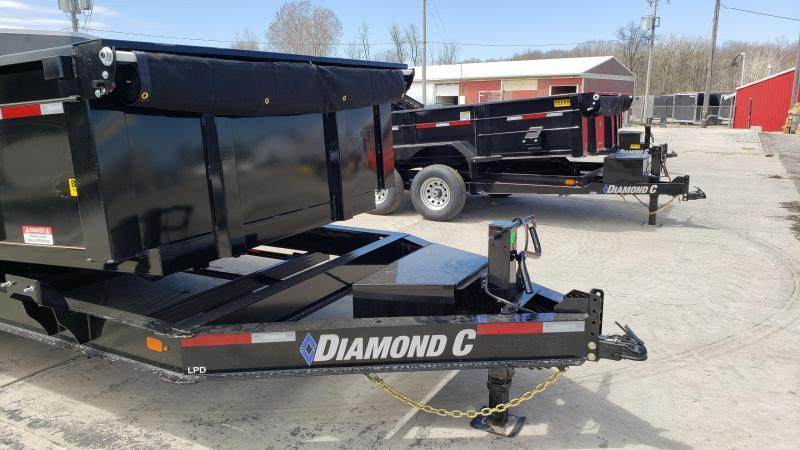 "New Diamond C 82"" x 16' Low Pro Dump Trailer with 32"" Sides"