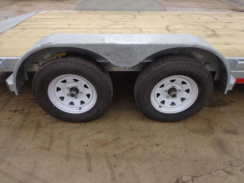 "New Galvanized 83"" x 18' Car Hauler - Torsion Axles"