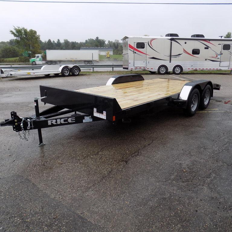 "New Rice Trailers 7k Magnum 82"" x 16'+2' Open Car Hauler"