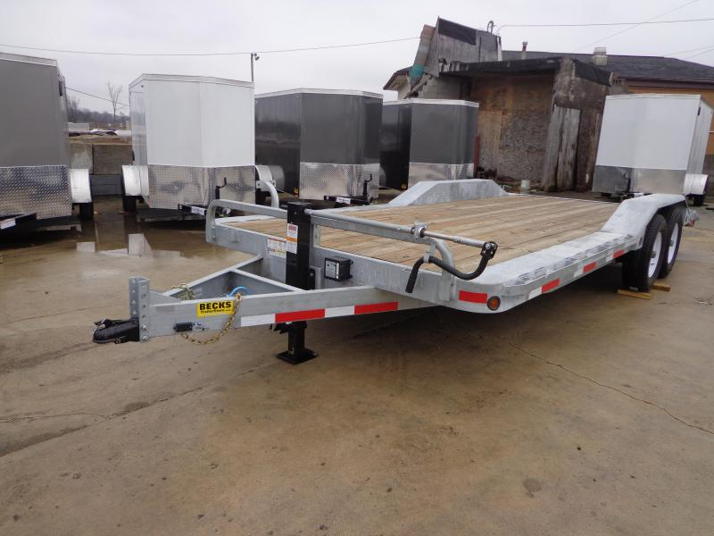 "New Galvanized 102"" x 20' Flatbed Equipment Trailer for Sale"
