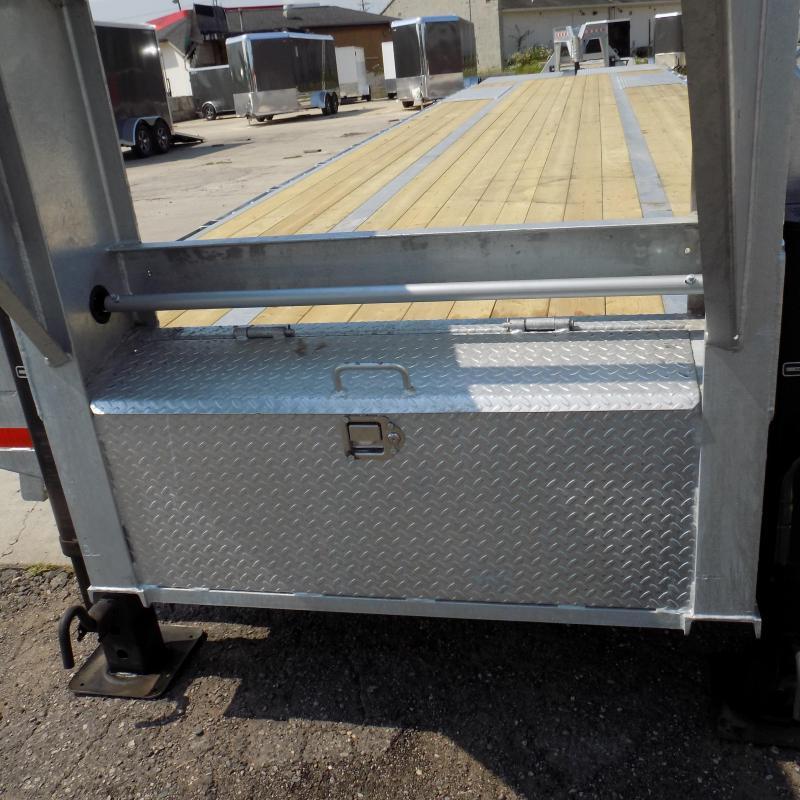 """New Galvanized 102"""" x 40' Gooseneck Trailer - Corrosion Resistant"""