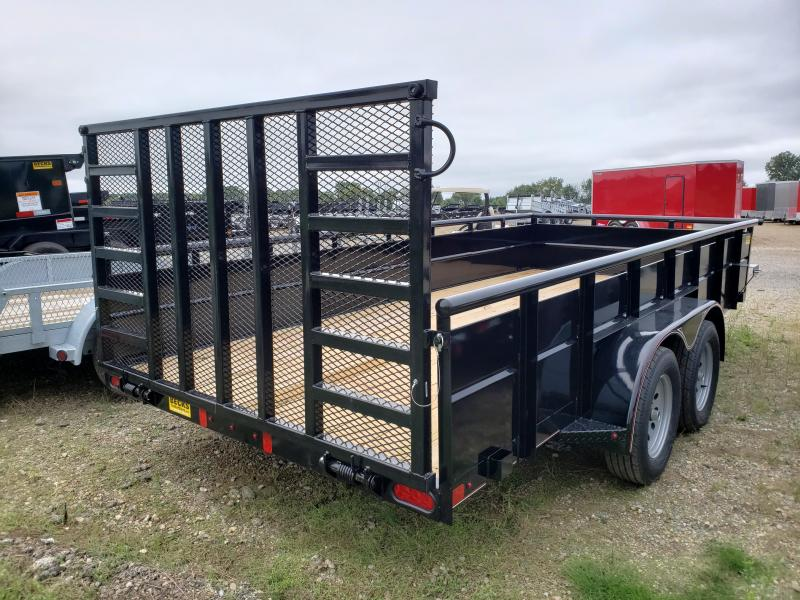 """New Diamond C Trailers 83"""" x 16' Utility Trailer With Steel Sides"""