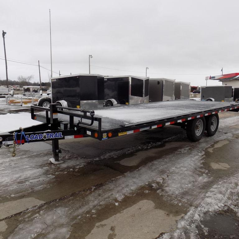 "New Load Trail DK14 102"" x 20' Deckover Trailer with Steel Deck - 14K Weight Rating"