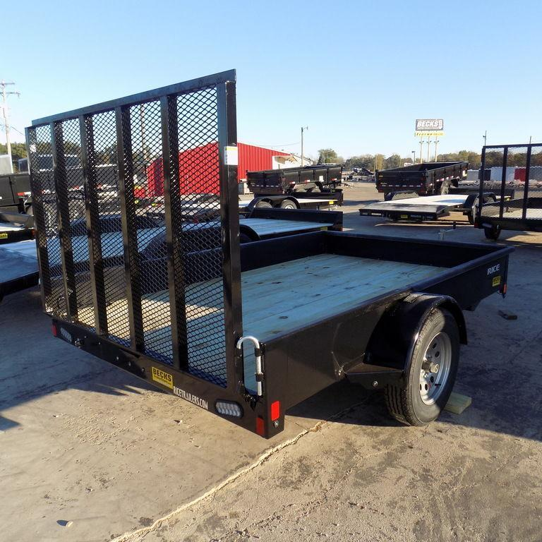"""New Rice Trailers Stealth 76"""" x 10' Utility Trailer for Sale"""
