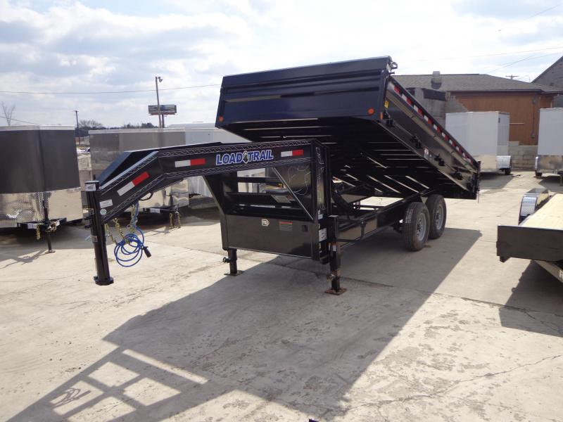 "New Load Trail 96"" X 16' Gooseneck Deck Over Dump Trailer"