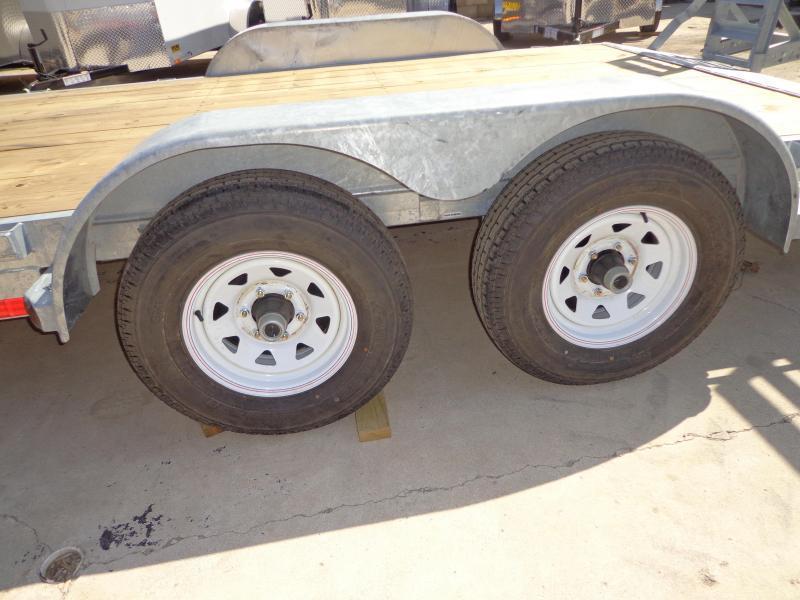 "New Galvanized 83"" x 18' Open Car Hauler - 5200# Axles"