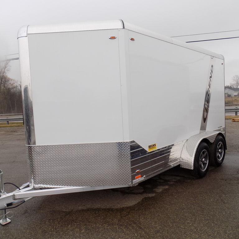 New Legend Deluxe 7' x 15' Aluminum Enclosed Cargo Trailer
