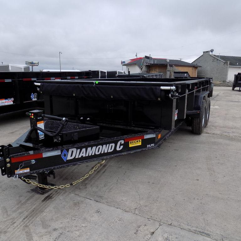 "New Diamond C 82"" x 14' Low Profile Dump Trailer"