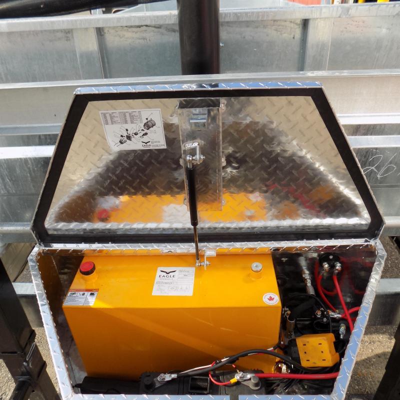 """New Galvanized 80"""" x 16' Gooseneck Dump Trailer with 24K Telescopic Lift"""
