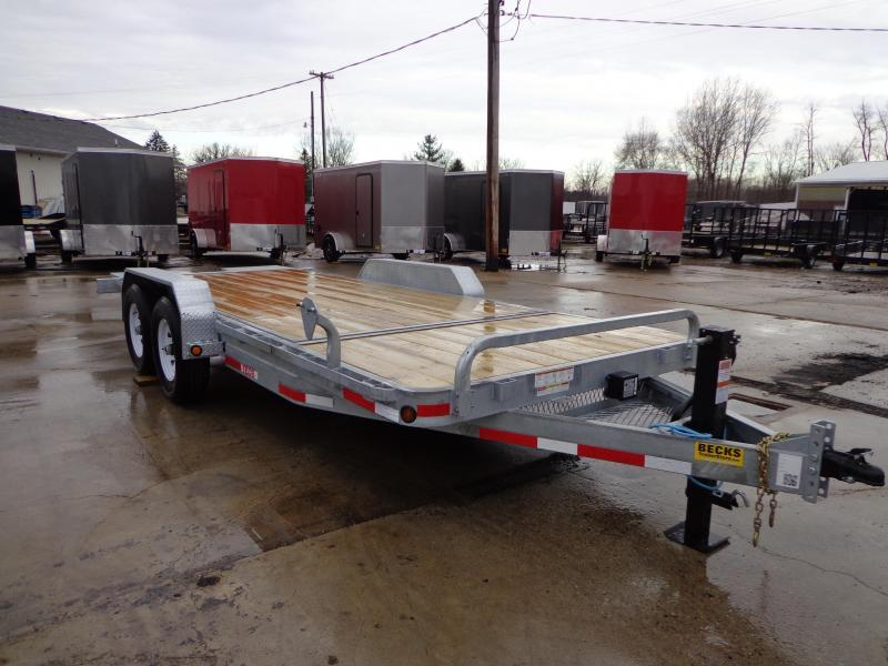 "New Galvanized 83"" x 20' Tilt Deck Equipment Trailer"