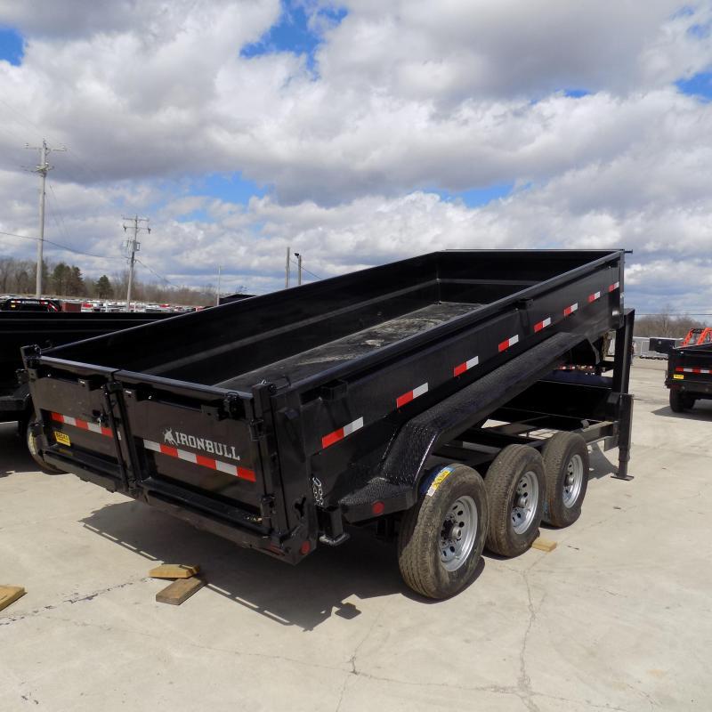 "New Iron Bull 83"" x 16' Gooseneck Dump Trailer for Sale - Triple Axle"