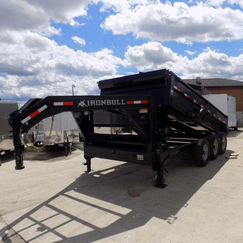 "New Iron Bull 83"" x 16' Gooseneck Dump Trailer for Sale - Triple Axle"