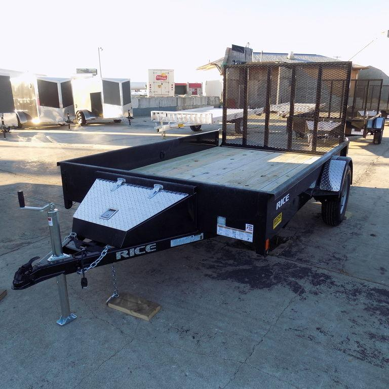 "New Rice Trailers Stealth 82"" x 12' Utility Trailer w. 12"" Sides"