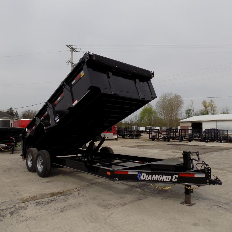 "New Diamond C 82"" x 16' Low Pro Dump Trailer with 32"" Sides"