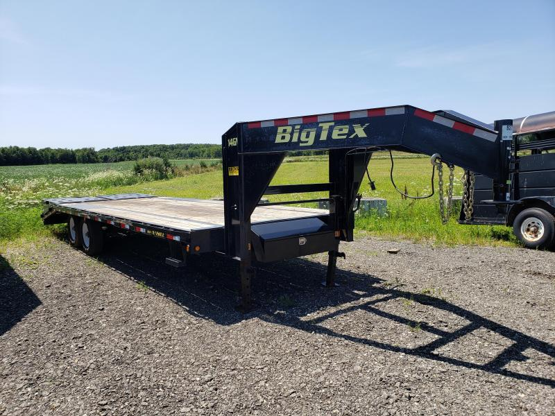 "Used Big Tex 14GN 102"" x 25' Gooseneck  Equipment Trailer For Sale"