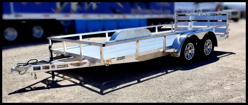 2020 H and H Trailer 82 x 16  TANDEM RAILSIDE ALUM 7K
