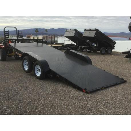 2019 H and H Trailer H8218EX-070 Flatbed Trailer