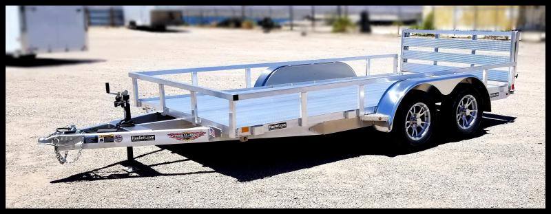 2019 H & H Trailers 82 x 14 Aluminum Tandem Axle Utility Trailer