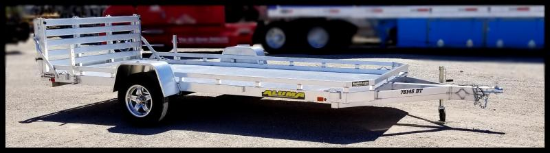 2020 Aluma 7814S-BT-TR Flatbed Trailer
