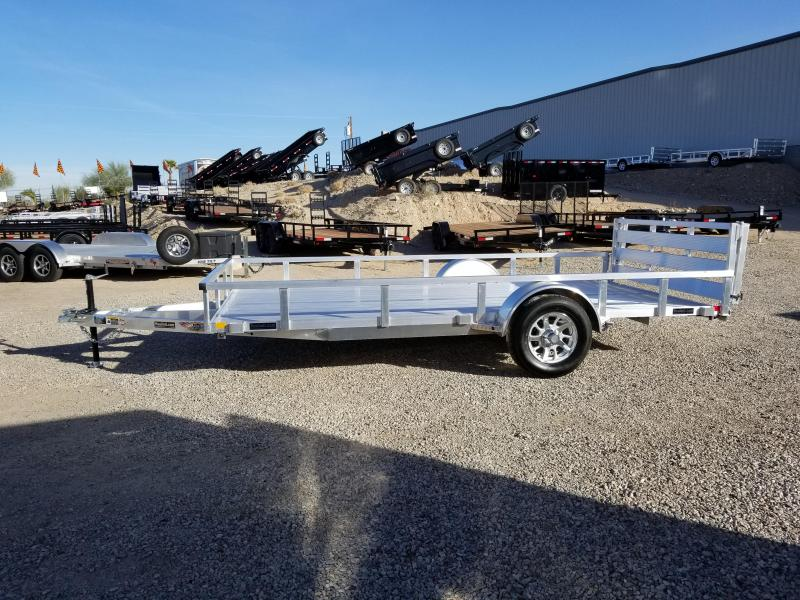 "2019 H and H  82"" x 14 Utility Aluminum Trailer"