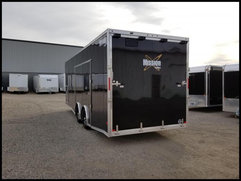 2018 Mission Mission 8.5 x 28 Aluminum Enclosed Car Hauler Enclosed Cargo Trailer